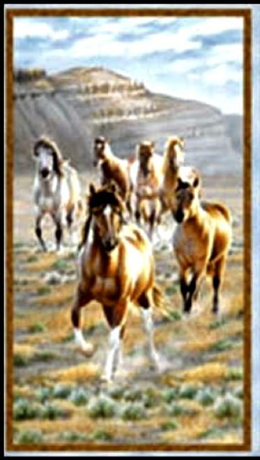 """HORSES IN THE PASTURE 23 1/2"""" PANEL - Q1885-9123-247"""