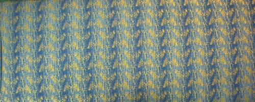 LIGHT & DARK BLUE STRIPES WITH GOLD METALLIC - 6JYD-2M
