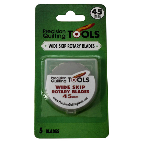 45mm WIDE SKIP ROTARY CUTTER BLADES, 5 PACK - 45MMSBLADE5