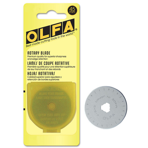 45mm ROTARY CUTTER BLADES, 1 PACK - RB45-1 9452