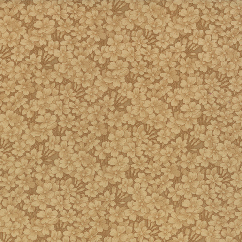 TAN FLORAL PATTERN ON DARKER TAN - 9419-11