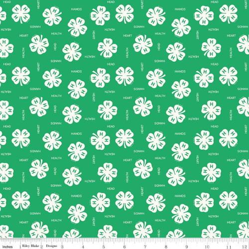 4H CLOVER GREEN FABRIC - C9121-Green - 4H