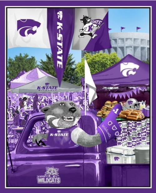 KANSAS STATE WILDCATS TAILGATE PANEL - KSU-1157