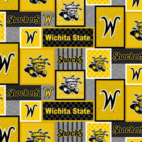 WICHITA STATE SHOCKERS COLLEGE PATCH FLEECE - WSU-1177