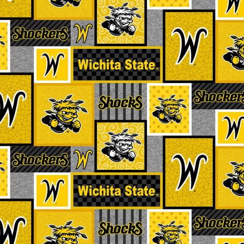 WICHITA STATE SHOCKERS COLLEGE PATCH FLEECE - WSU-1177