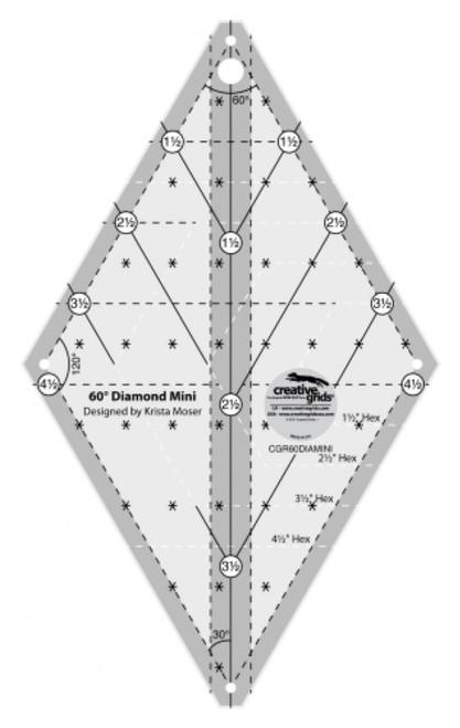 60 Degree Mini Diamond Ruler - CGR60DIAMINI