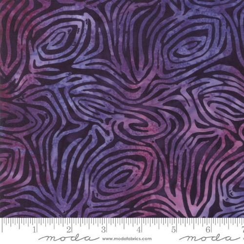 PURPLE WAVY LINES PRINT BATIK FABRIC - 4353-14