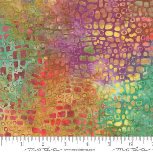 MULTI-COLOR SPOTS PRINT BATIK FABRIC - 4353-17