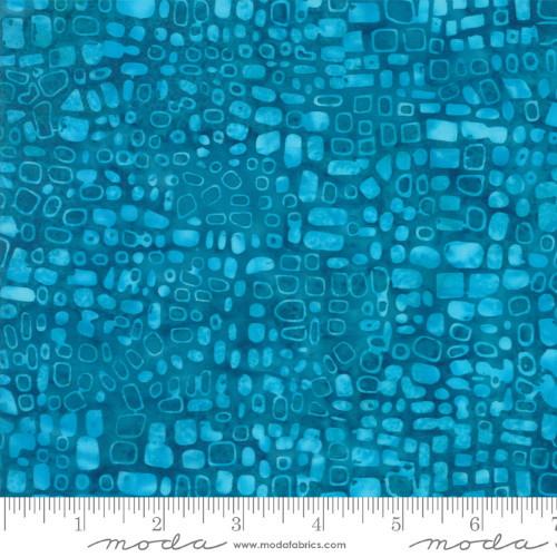 TURQUOISE SPOTS PRINT BATIK FABRIC - 4353-25