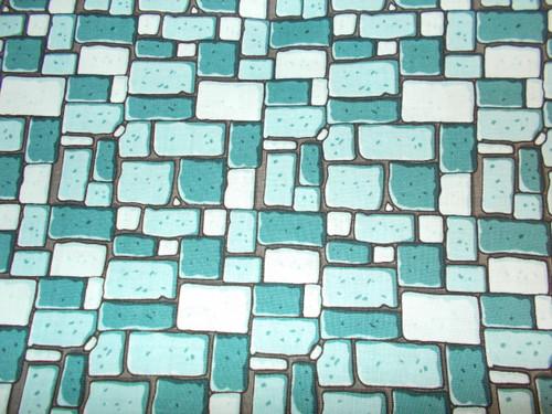 BLUE COBBLESTONES FABRIC - C7664 Blue