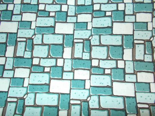 BLUE COBBLESTONES FABRIC - C7664 Blue
