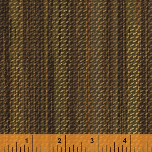 BROWN BASKET WEAVE PRINT FABRIC - 40256-1