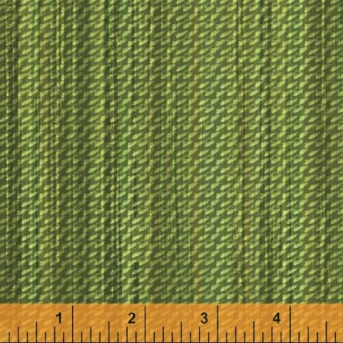 GREEN BASKET WEAVE PRINT FABRIC - 40256-2