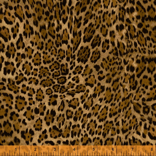 BLACK AND GOLD LEOPARD PRINT FABRIC - 40258-1