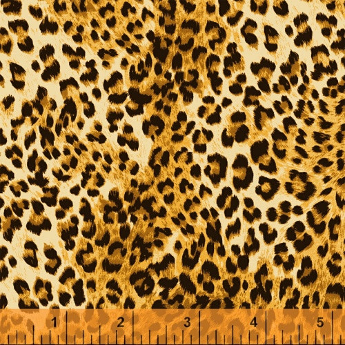 LIGHT GOLD AND BLACK LEOPARD PRINT FABRIC - 40259-X