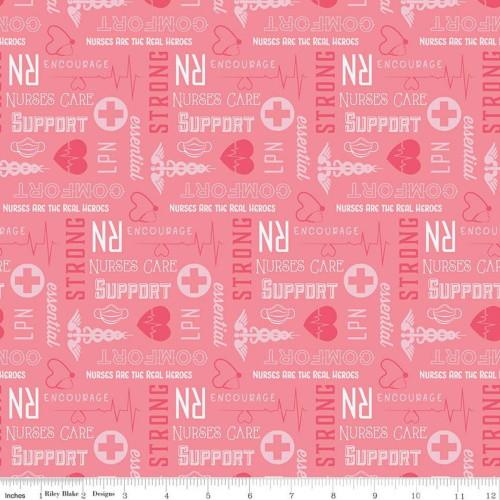 FIRST RESPONDERS NURSE PINK FABRIC - C10422-PINK