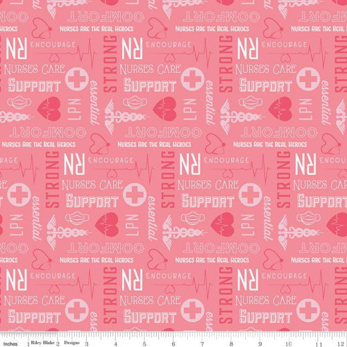 FIRST RESPONDERS NURSE PINK FABRIC - C10422-PINK