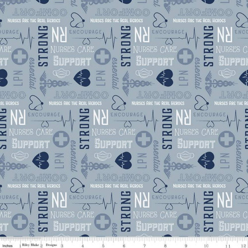 FIRST RESPONDERS NURSE BLUE FABRIC - C10422-BLUE