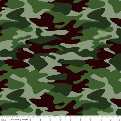 FIRST RESPONDERS CAMOFLAUGE GREEN FABRIC - C10420-GREEN