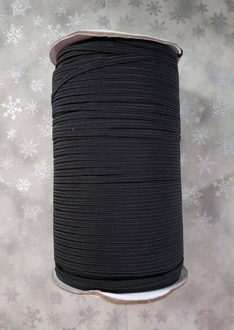 Black Flat Elastic 1/8 inch - TGQ044