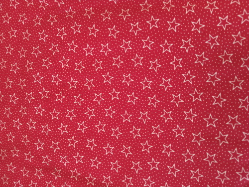 "WHITE OUTLINE STARS AND DOTS ON RED 108"" WIDE BACKING - *3 YARD CUT* - FOSQ-122-PC-C Red"