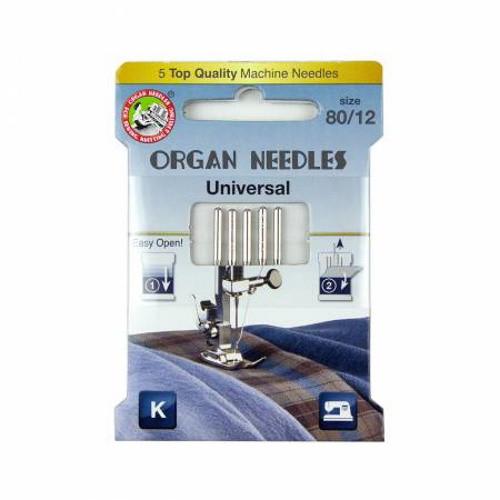 Universal Machine Needles Size 80/12 - 4964832151803-C - 5 Pcs