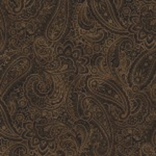 """CHESTNUT BROWN RADIANT PAISLEY 108"""" WIDE BACKING - 9747WB-77"""