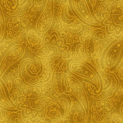 "BUTTERNUT RADIANT PAISLEY 108"" WIDE BACKING - 9747WB-33"