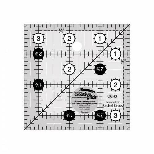 """3 1/2"""" SQUARE RULER - 3"""" FINISHED - CGR3-C"""