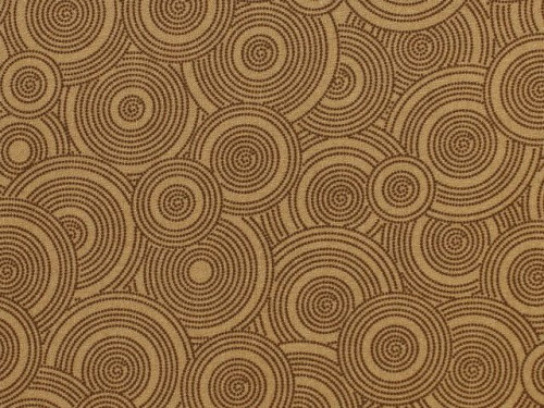 "TOSSED BROWN ON TAN DOTTED CIRCLES 108"" WIDE BACKING - BD-48494-A04-C"
