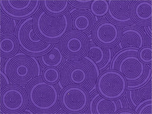 "TOSSED PURPLE ON PURPLE DOTTED CIRCLES 108"" WIDE BACKING - BD-48494-A14-C"