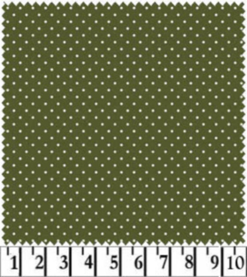 WHITE DOTS ON GREEN COORDINATE - MAS609-G4