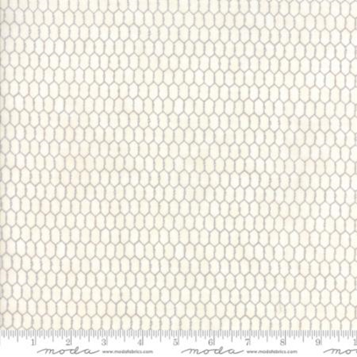 SMALL CHICKEN WIRE FABRIC - GRAY ON DISTRESSED WHITE - 19827-11-C