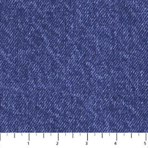 BLUE DENIM LOOK FABRIC - 4863-44-C