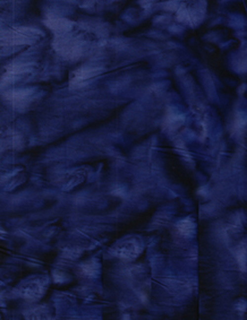 NAVY BLUE MARBLED BATIK FABRIC - 100Q-1539