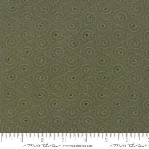 LIGHT GREEN SWIRLS ON GREEN- 9603-15 Green