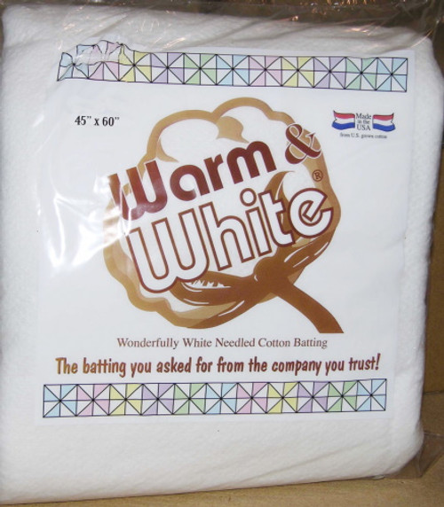 WARM AND WHITE COTTON BATTING - BABY SIZE