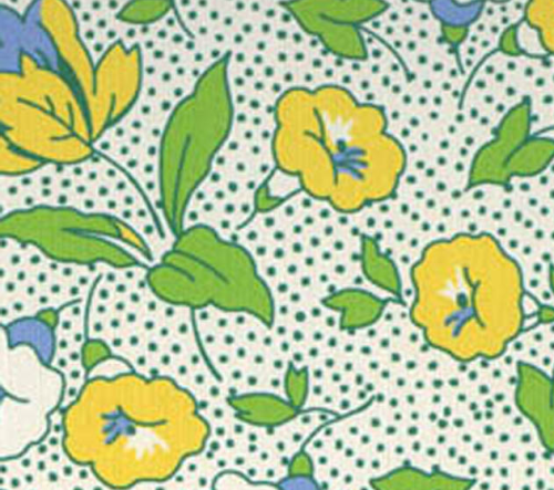 YELLOW, WHITE AND BLUE FLORAL DESIGN ON LIGHT BLUE