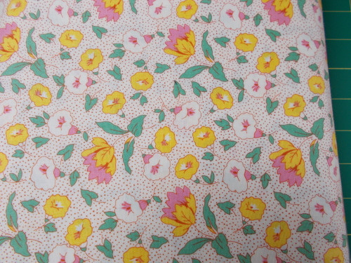 YELLOW, WHITE AND PINK FLORAL DESIGN ON WHITE - 8257-09