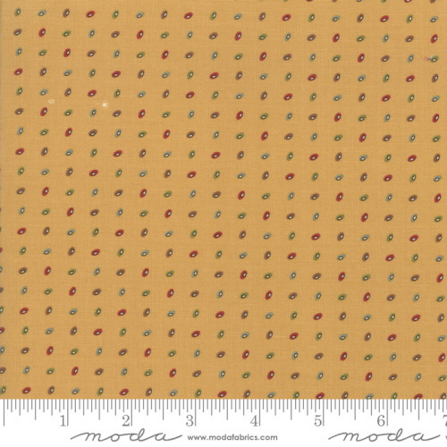 MULTI-COLORED ORBS ON GOLD FABRIC - 38095-14