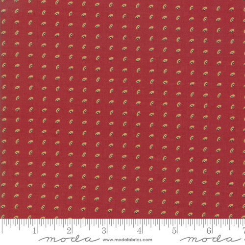MULTI-COLORED ORBS ON TURKEY RED FABRIC - 38095-21