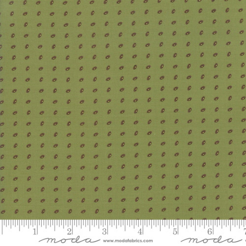 MULTI-COLORED ORBS ON POISON GREEN FABRIC - 38095-22
