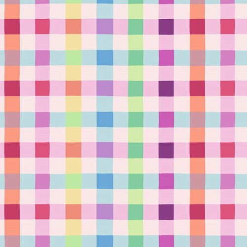 ASSORTED PASTEL COLORS GINGHAM FABRIC - 2573-22