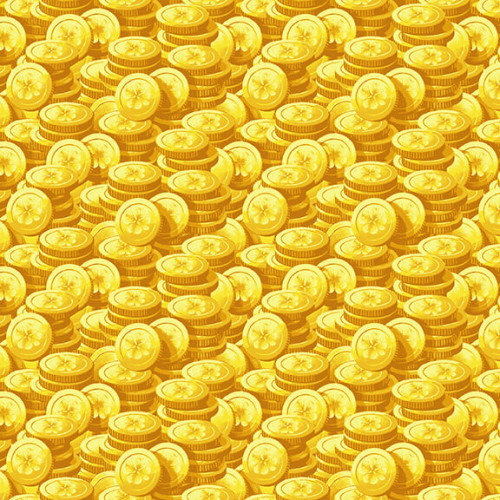 TOSSED GOLD COINS FABRIC - 9366-44