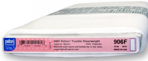 """SHEERWEIGHT PELLON FUSIBLE BY THE YARD - 906F - 20"""" Wide"""