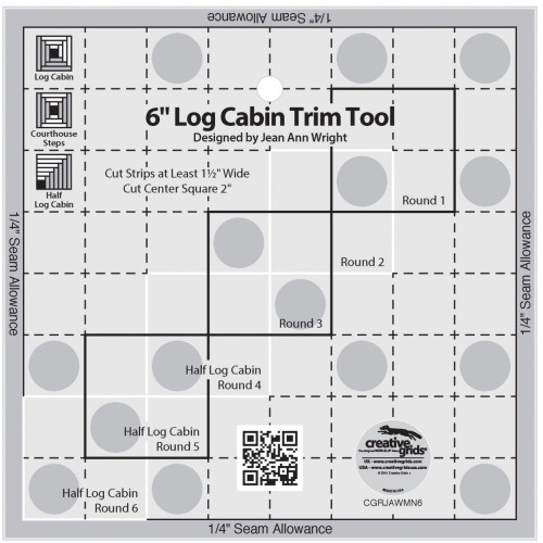 6in Log Cabin Trim Tool Quilt Ruler - CGRJAWMN6