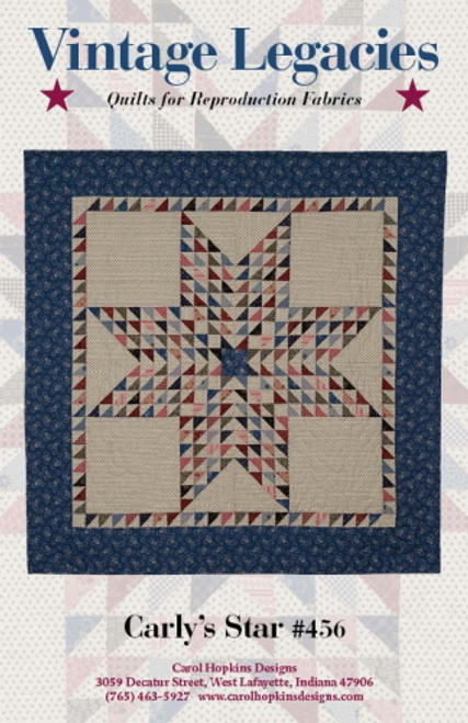 CARLY'S STAR COVER PATTERN - #456