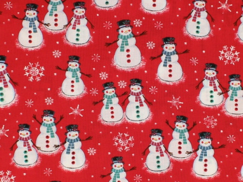 ASSORTED SNOWMEN, WOMEN AND FAMILIES ON RED - BD-49805-A01