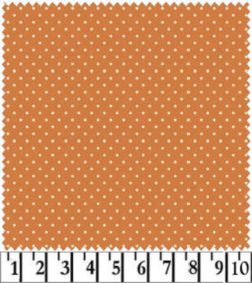 WHITE DOTS ON BURNT ORANGE COORDINATE - MAS609-M