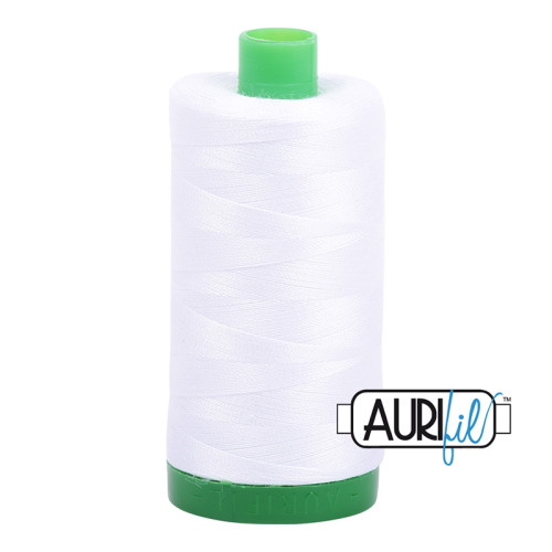 White Cotton Mako Thread - 40wt - 1092 yards (1000m) - MK40-2024